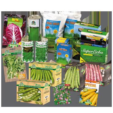 I Prodotti: sementi per orto, fiori, giardino